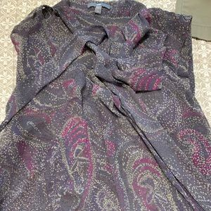 Loft size large blouse with fun tie